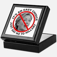 Say No to Hillary Clinton Keepsake Box