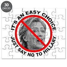 Say No to Hillary Clinton Puzzle