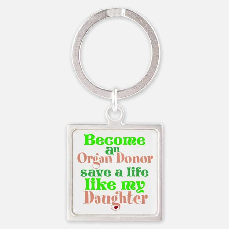 Personalize , Save A Life Square Keychain
