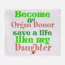Personalize , Save A Life Throw Blanket
