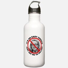 Say No to Hillary Clin Water Bottle
