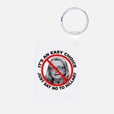 Say No to Hillary Clinton Keychains