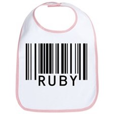 Ruby Barcode Baby Bib