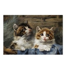 Two kittens in a basket painting Postcards (Packag
