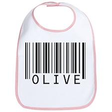 Olive Barcode Baby Bib