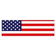 American Flag Bumper Car Sticker