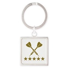 Darts stars Square Keychain
