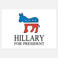 Hillary for president | Vote Democrat Invitations