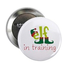 "Elf In Training 2.25"" Button (10 pack)"