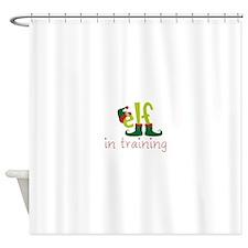Elf In Training Shower Curtain