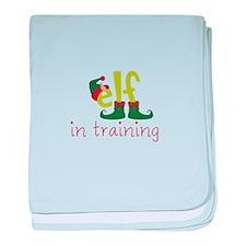 Elf In Training baby blanket