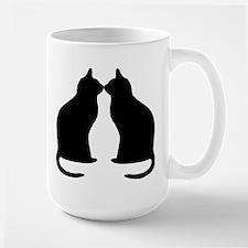 Black cats silhouette Mugs