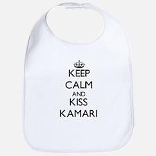 Keep Calm and Kiss Kamari Bib