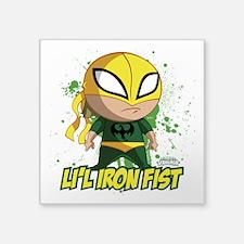 """Marvel Lil Iron Fist Square Sticker 3"""" x 3"""""""