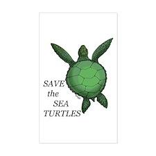 Sea Turtle Rectangle Decal