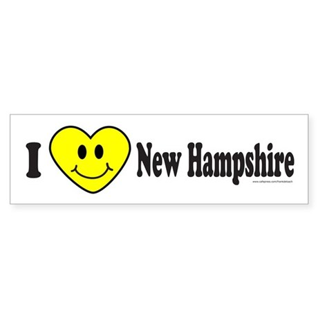 LOVE NEW HAMPSHIRE Bumper Sticker