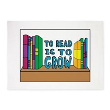 To Read Is To Grow 5'x7'Area Rug