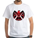Marvels agents of shield Mens White T-shirts