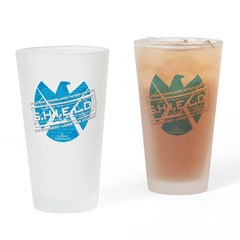 S.H.I.E.L.D. Distressed Drinking Glass