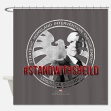 Marvel: Stand with Shield Shower Curtain