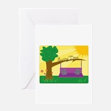 Swing Time Greeting Cards
