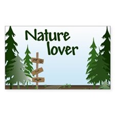 Nature Lover Rectangle Decal