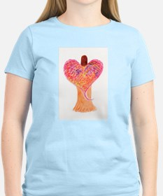 Orange Heart Angel T-Shirt