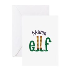 Mama Elf Greeting Cards