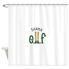 Mama Elf Shower Curtain