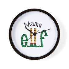 Mama Elf Wall Clock