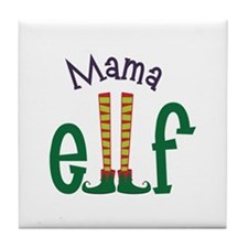 Mama Elf Tile Coaster