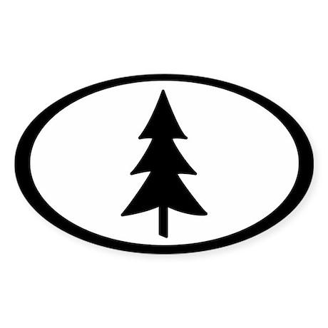 Tree Oval Sticker