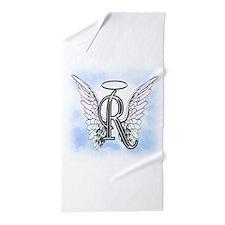 Letter R Monogram Beach Towel