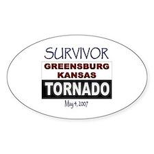 Survivor Kansas Tornado Oval Decal