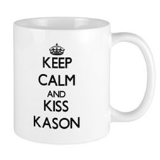 Keep Calm and Kiss Kason Mugs