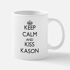 Keep Calm and Kiss Kason Mugs