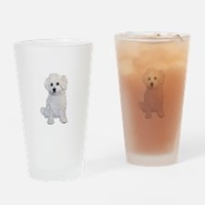 Bolognese Puppy Drinking Glass