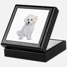 Bolognese Puppy Keepsake Box