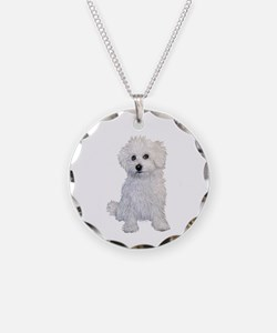 Bolognese Puppy Necklace