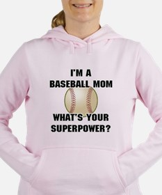 Baseball Mom Superhero Women's Hooded Sweatshirt