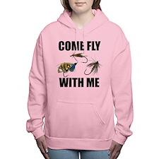 FIN-come fly.png Women's Hooded Sweatshirt