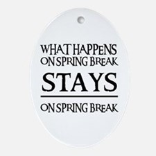 SPRING BREAK Oval Ornament