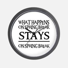 SPRING BREAK Wall Clock