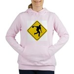 Bowling Crossing Sign Women's Hooded Sweatshirt