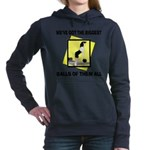 Biggest Balls Bowling Women's Hooded Sweatshirt
