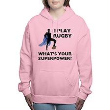 Rugby Superhero Women's Hooded Sweatshirt