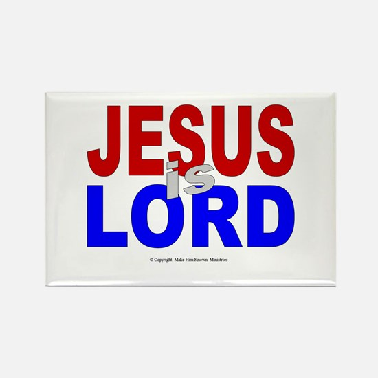 Jesus Is Lord Rectangle Magnet (10 pack)