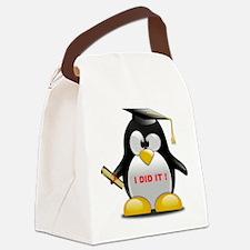 I DID IT , GRADUATION PENGUIN Canvas Lunch Bag