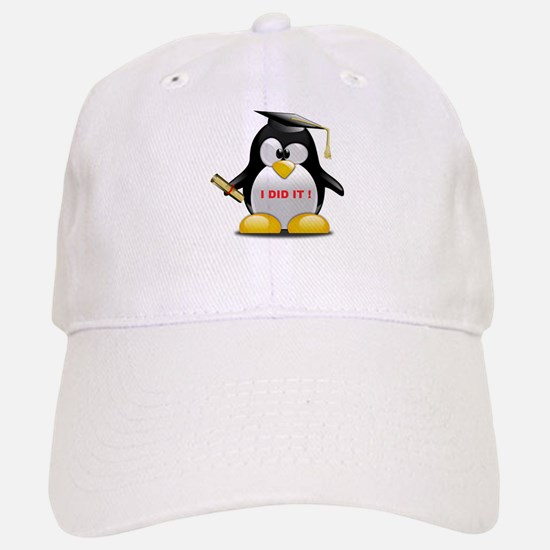 I DID IT , GRADUATION PENGUIN Baseball Baseball Cap