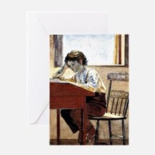 Winslow Homer - Homework Greeting Card
